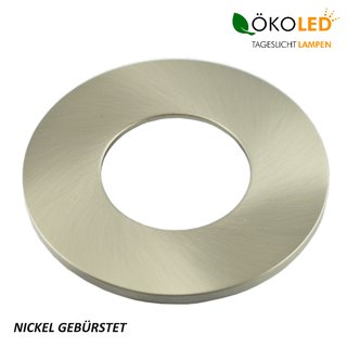 ÖKOLED EASY SWITCH Dekoring Nickel gebürstet, rund
